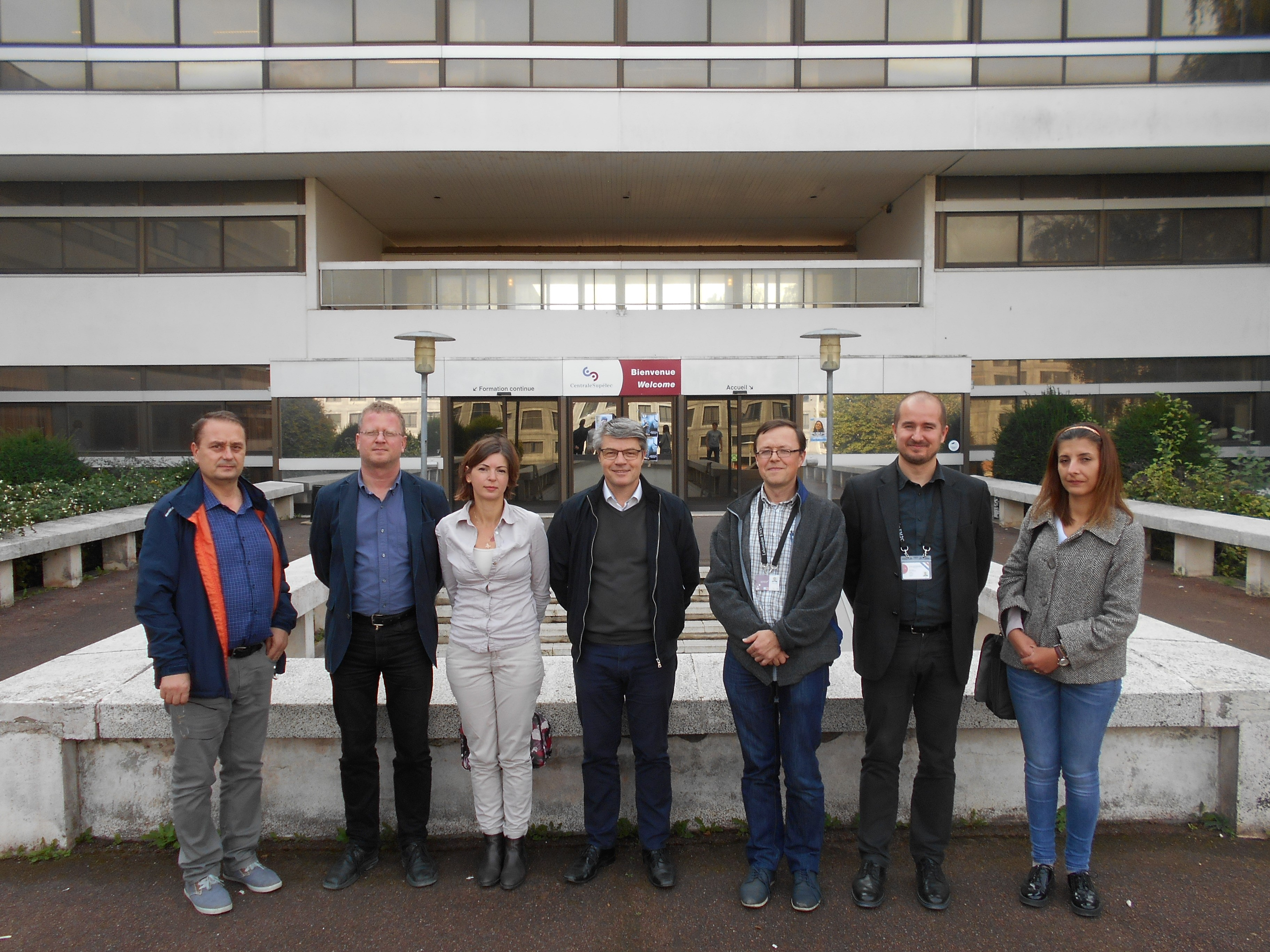 A group photo with the participants at the second meeting of Team 3 (16-17 October 2017). From left: Nicolaie PAVEL, Erik BECKERT, Catalina Alice BRANDUS, Geoffrey DEARDEN, Laurent ZIMMER, Gabi-Daniel STANCU and Gabriela CROITORU.(04c. Team 3-2_Paris_16-17.10.'17.JPG)